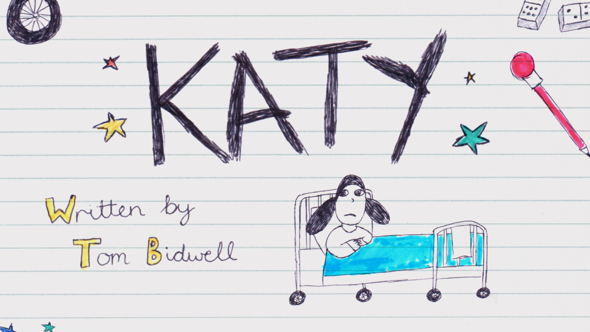 Hand drawn cell animation for CBBC adaptation of Katy.